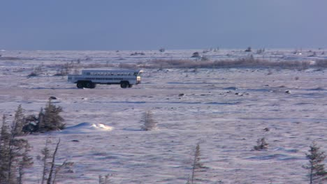 An-arctic-crawler-tundra-buggy-moves-across-the-frozen-expanse-of-Hudson-bay-Canada