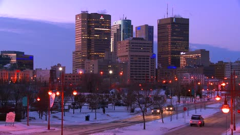 Downtown-Winnipeg-Manitoba-Canada-at-dusk-1