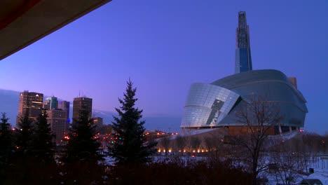Downtown-Winnipeg-Manitoba-Canada-at-dusk-4