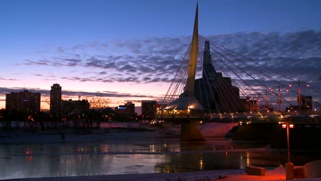 Downtown-Winnipeg-Manitoba-Canada-at-dusk-5