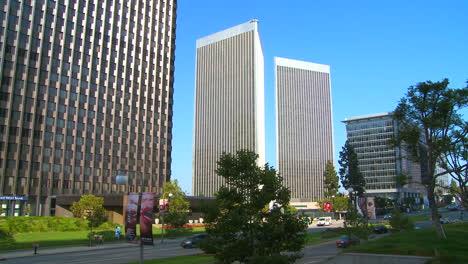 Establishing-shot-of-boulevards-and-high-rises-of-Century-City-Los-Angeles-California-2