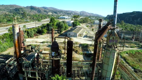 Aerial-over-an-abandoned-oil-refinery-1