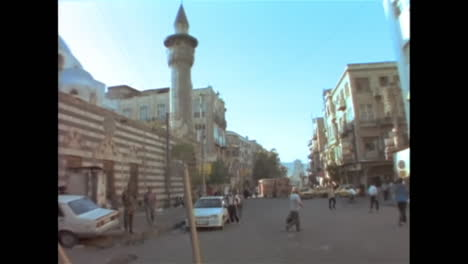 1996-footage-of-Damascus-Syria-crooked-old-city-buildings-pedestrians-meat-sellers