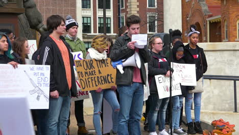 Children-speak-out-against-gun-violence-in-schools-on-the-streets-of-Battle-Creek-Michigan-during-the-March-For-Our-Lives-protests