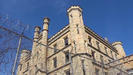 Establishing-shot-of-the-defunct-old-Joliet-prison-near-Chicago-Illinois-2