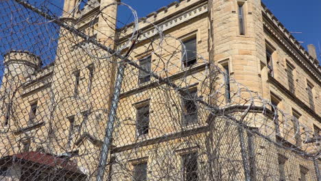 Establishing-shot-of-the-defunct-old-Joliet-prison-near-Chicago-Illinois-3