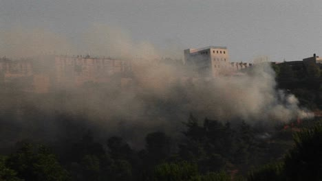 Smoke-rises-from-a-rocket-attack-in-Northern-Israel-during-the-Israel-Lebanon-war