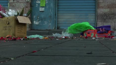 Trash-and-garbage-line-an-urban-city-street