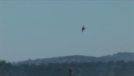 A-Blue-Angels-jet-makes-a-sharp-turn-in-the-air