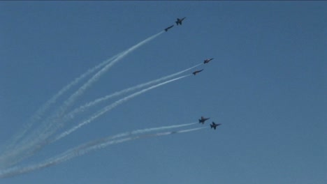 Six-Blue-Angels-jets-fly-in-formation-and-break-into-groups-of-twos