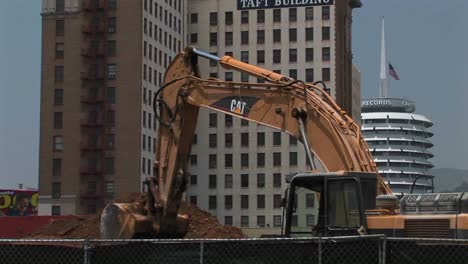 An-excavator-moves-dirt