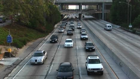Traffic-travels-along-a-freeway