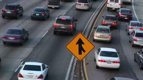 Vehicles-slowly-merge-into-traffic-1