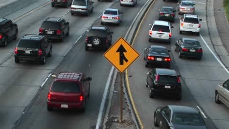 Vehicles-slowly-merge-into-traffic-2