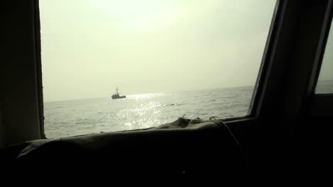 A-ship-navigates-on-the-open-seas