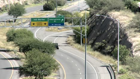 Vehicles-travel-along-a-highway-close-to-the-Mexican-boarder