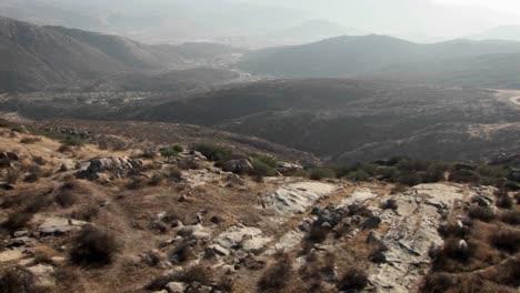 A-road-runs-through-a-mountain-area
