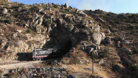 A-train-drives-into-a-tunnel