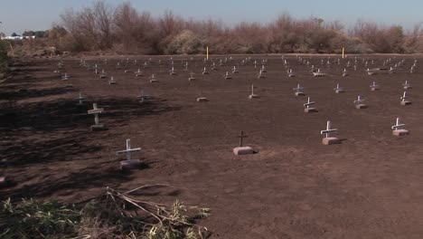 Graves-are-marked-with-small-white-crosses