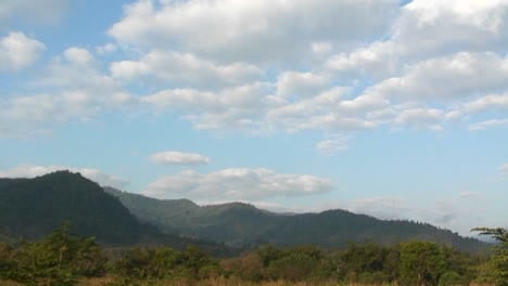 Clouds-pass-over-a-mountainous-region