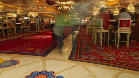 Un-Lapso-De-Tiempo-Del-Lobby-De-Un-Casino-En-Las-Vegas