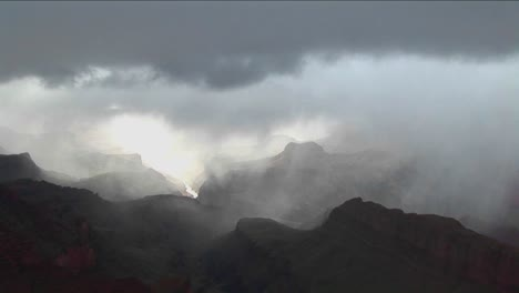 A-time-lapse-of-clouds-moving-over-layers-of-mountains-in-Grand-Canyon-National-Park-in-Arizona
