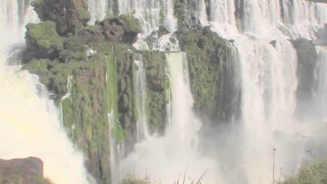 A-tilt-down-of-Iguacu-Falls-flowing-at-the-Brazil-Argentina-border