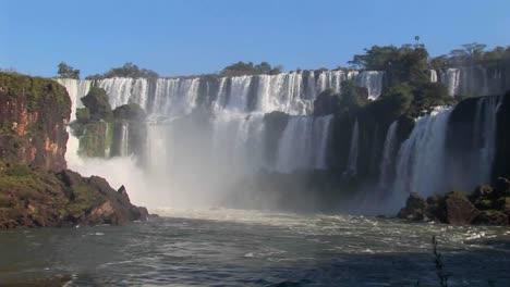 A-wide-shot-of-beautiful-Iguacu-Falls