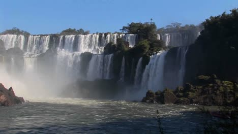A-slow-pan-across-beautiful-Iguacu-Falls