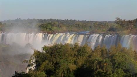 A-slow-pan-across-beautiful-Iguacu-Falls-at-the-Brazil-Argentina-border