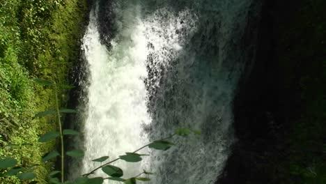 Argentina-Iguazu-Falls-closeup-of-small-rivulet-a-small-waterfall