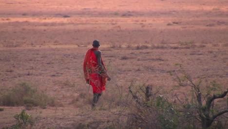 A-tribesman-crosses-through-the-bush