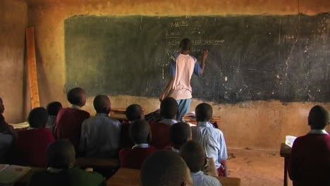 One-of-the-boys-from-the-class-gives-instruction-to-the-others-in-his-class