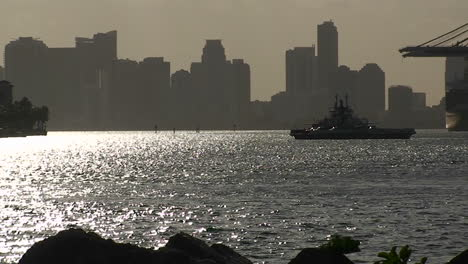 A-ferry-boat-crosses-Miami-harbor