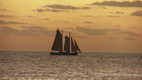 A-beautiful-sailing-ship-at-sunset