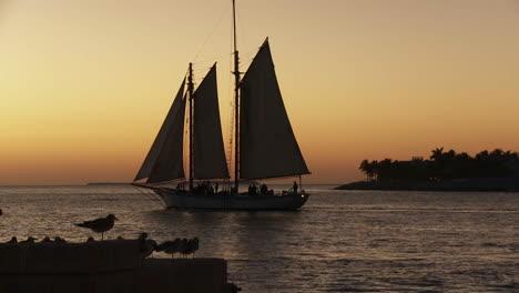 A-beautiful-sailing-ship-at-sunset-1