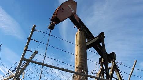 An-oil-derrick-pumps-oil