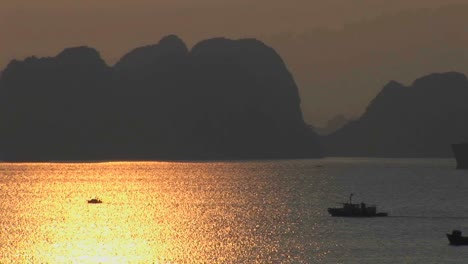 A-beautiful-sunset-over-the-Ha-Long-Bay-in-Vietnam