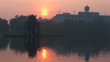 A-sunset-behind-Hanoi-Vietnam