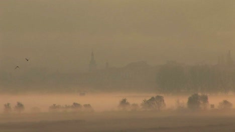 The-charming-town-of-Mikulov-in-the-Czech-Republic-in-the-fog