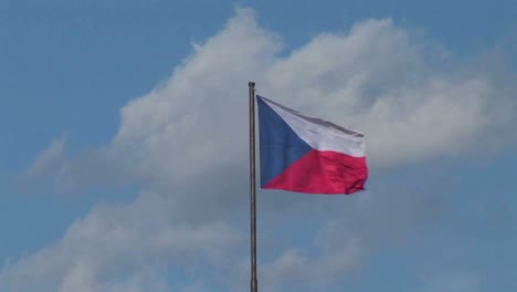 The-flag-of-the-Czech-Republic-flies-in-the-breeze