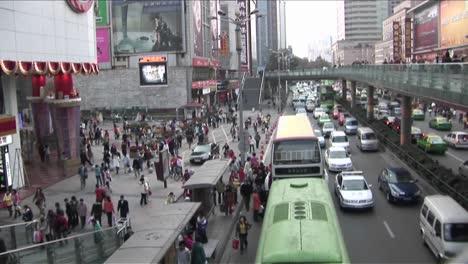 Toma-De-Lapso-De-Tiempo-Del-Tráfico-Moderno-En-China