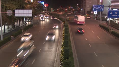 Stop-motion-action-of-traffic-passing-on-a-Chinese-road