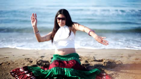 Woman-on-Beach-Dancing-27