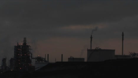A-time-lapse-shot-from-day-to-night-of-a-petrochemical-factory-or-oil-refinery
