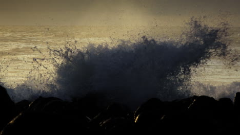 Waves-roll-into-a-beach-following-a-big-storm-in-slow-motion-2