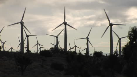 Backlit-windmill-generates-electrical-power-on-a-hillside-in-California-3
