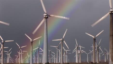 Gorgeous-rainbows-illuminate-wind-powered-generators-spinning-3