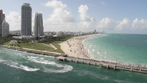Wide-shot-Miami-Florida-extremely-crowded-baches-from-the-POV-from-a-cruise-ship-1