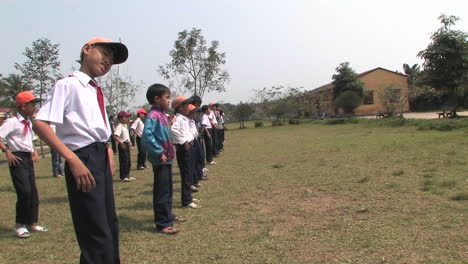 Students-of-primary-school-doing-exercise-in-the-school-playground-in-China